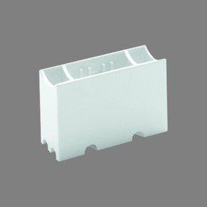 S14s Fassung für Linienlampen 2 Sockel weiß