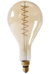 Calex Led Filament gedreht 4W E27 Giant Goldline Tropfenlampe PS160