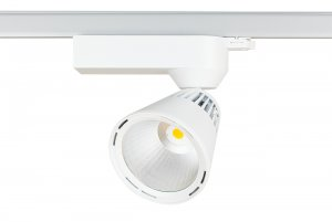 Lival Led Lean GA69 55W/830 20° Spot clean white in weiss mit 3 Phasenadapter