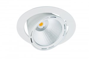 Lival Led Lean DL Downlight 27W/935 30° Flood clean white in weiss