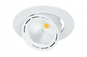 Lival Led Lean DL Downlight 43W/930 30° Flood clean white in weiss