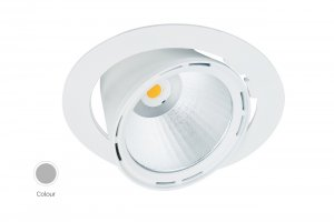 Lival Led Lean DL Downlight 43W/930 30° Flood clean white in silber